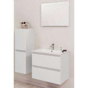 MEUBLE VASQUE - PLAN BELY Ensemble meuble de salle de bain 60cm - Blanc