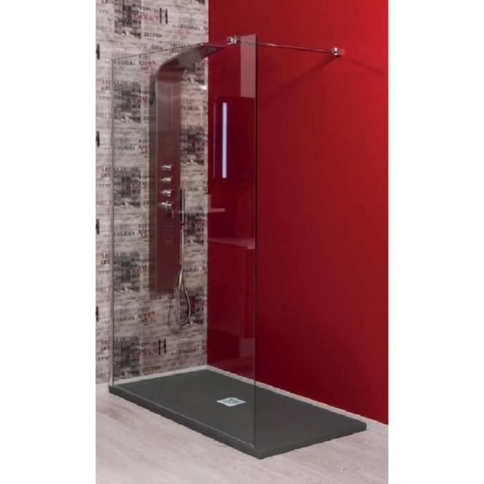 Paroi de douche lat rale italienne 90cm achat vente cabine de douche paro - Prix du verre trempe ...
