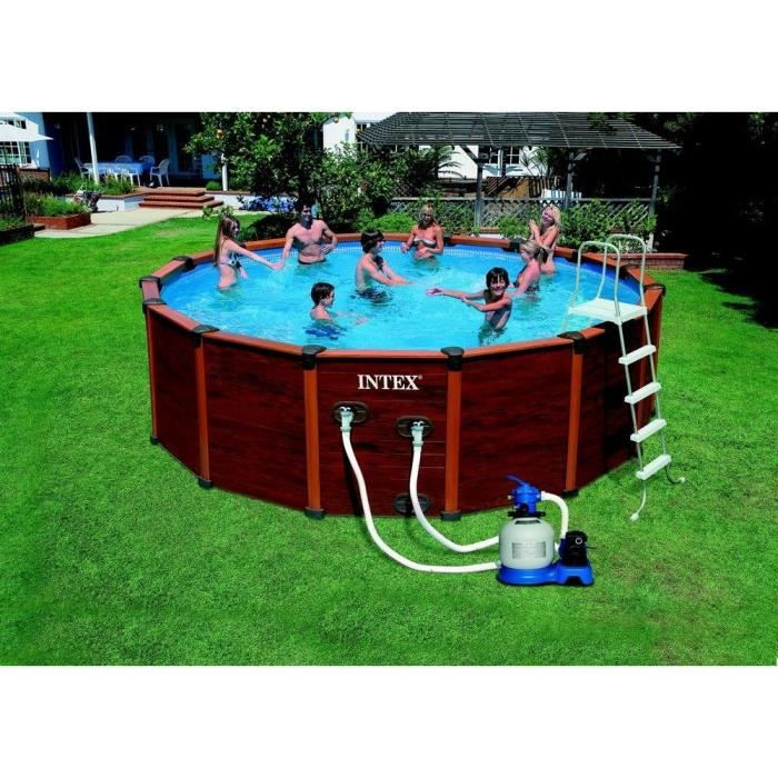 Sequoia kit piscine 5 69 x 1 35 m achat vente piscine kit piscine 5 69 x 1 35 m cdiscount - Piscine bois miami ...