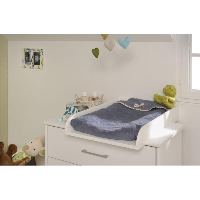 gabriel plan langer blanc l55 cm achat vente commode de chambre gabriel plan langer l55. Black Bedroom Furniture Sets. Home Design Ideas