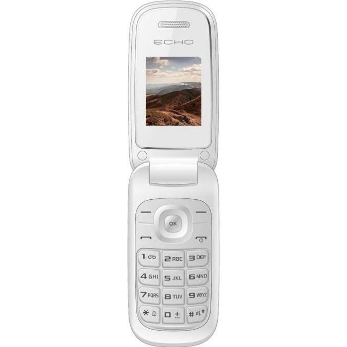 Echo mobile clap plus blanc achat t l phone portable pas cher avis et meil - Tele blanche pas cher ...
