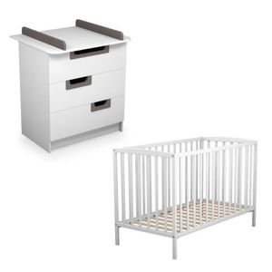 commode blanc et taupe achat vente commode blanc et taupe pas cher cdiscount. Black Bedroom Furniture Sets. Home Design Ideas