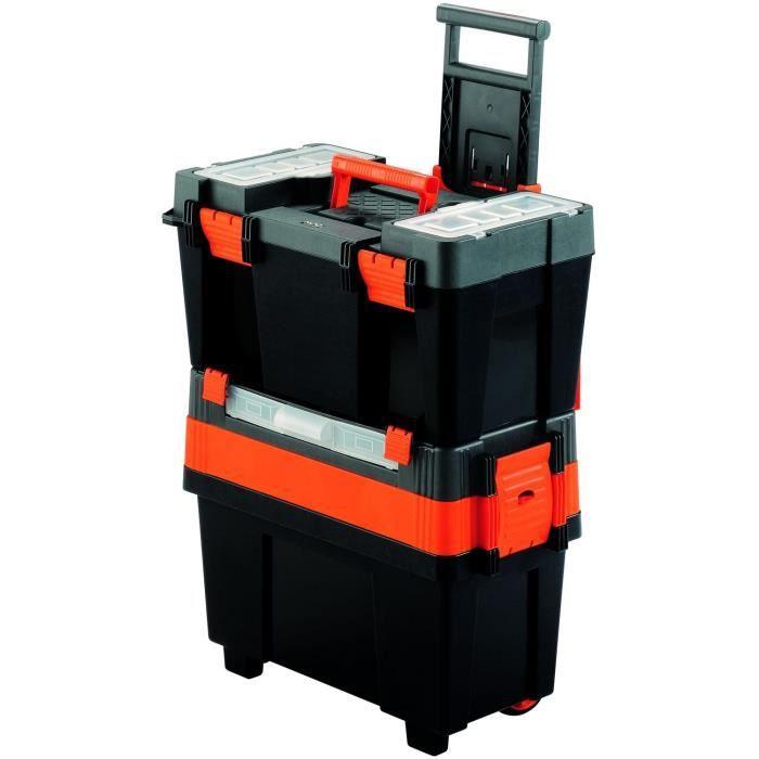 Boite outils transportable vide à roulettes Achat / Vente BOITE