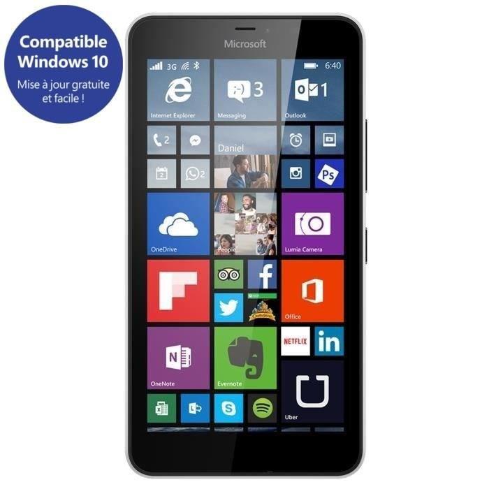 lumia 640 xl 4g double sim blanc smartphone prix pas. Black Bedroom Furniture Sets. Home Design Ideas