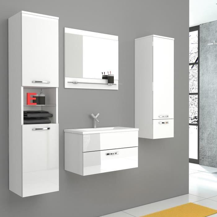 colonne salle de bain blanc laque achat vente colonne. Black Bedroom Furniture Sets. Home Design Ideas