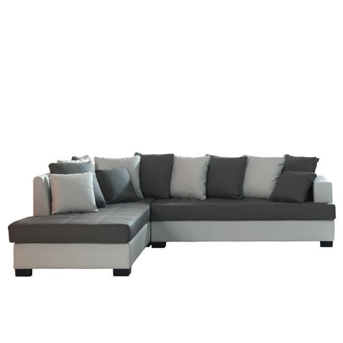 bora canap d 39 angle gauche simili 5 places 200x200x73 cm. Black Bedroom Furniture Sets. Home Design Ideas