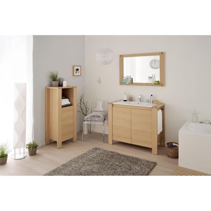 Nordic bloc salle de bain l99 5 cm ch ne naturel achat for Salle de bain style nature
