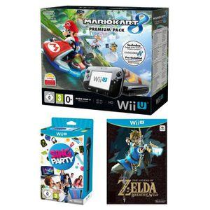 CONSOLE WII U Pack Premium Wii U + Mario Kart 8 Préinstallé + Si