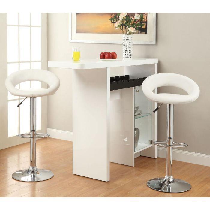 diabolo lot de 2 tabourets de bar blancs achat vente tabouret m tal pu polyur thane. Black Bedroom Furniture Sets. Home Design Ideas