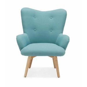 Fauteuil bleu achat vente fauteuil bleu pas cher cdiscount - Petit fauteuil crapaud pas cher ...