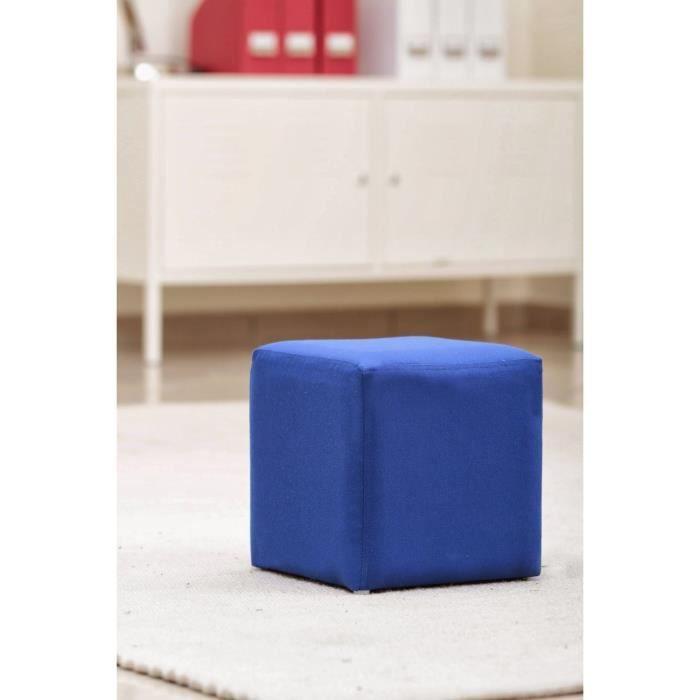 pouf carr en toile bleu fonc achat vente pouf poire toile soldes d t cdiscount. Black Bedroom Furniture Sets. Home Design Ideas
