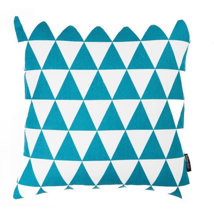 finlandek coussin imprim losange bleu p trole 40 cm kerava timantti achat vente coussin. Black Bedroom Furniture Sets. Home Design Ideas