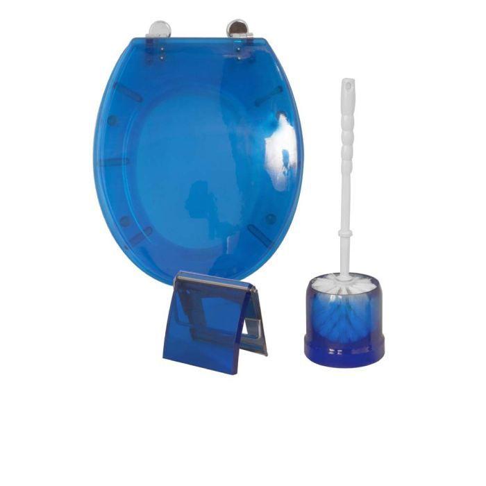 Frandis coffret 3 pi ces wc bleu achat vente set accessoires coffret 3 - Ensemble accessoires wc ...