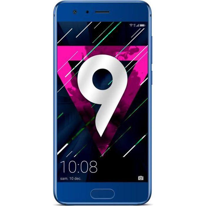 honor 9 bleu achat smartphone pas cher avis et meilleur prix les soldes sur cdiscount