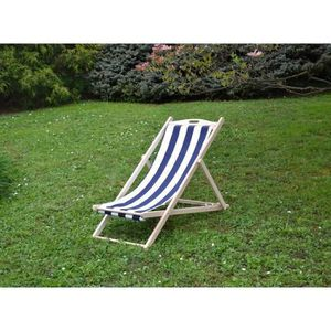 Chaise chilienne achat vente chaise chilienne pas cher for Chaise longue toile bois