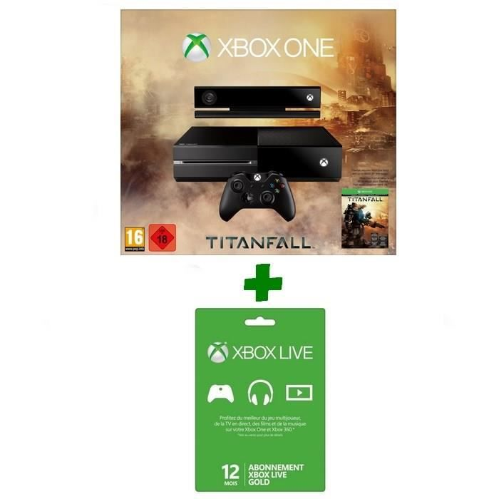 console xbox one titanfall abo xbox live 12 m achat vente console xbox one nouv xbox one. Black Bedroom Furniture Sets. Home Design Ideas
