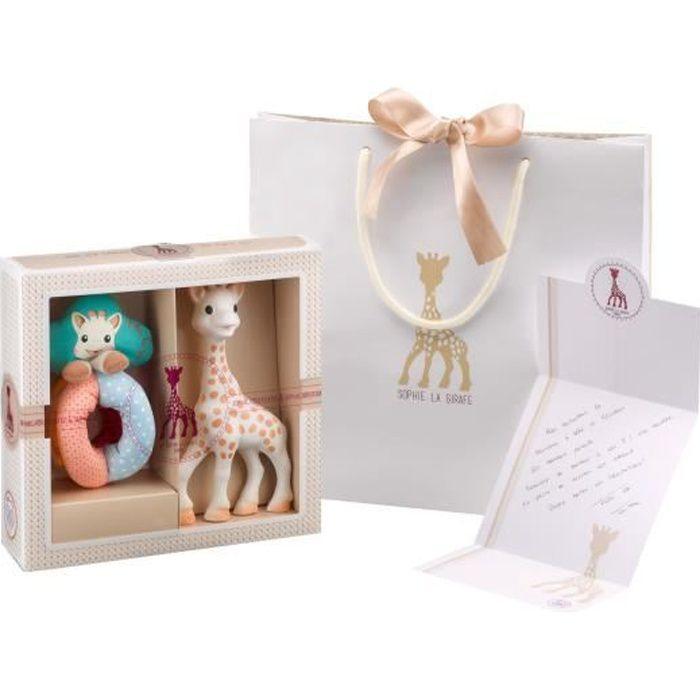 sophie la girafe coffret naissance cr ation classique 2 achat vente coffret cadeau jouet. Black Bedroom Furniture Sets. Home Design Ideas
