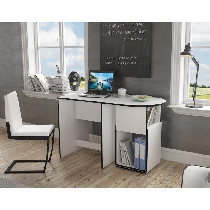 max bureau 120 cm blanc et noir achat vente bureau max bureau 120cm structure panneaux. Black Bedroom Furniture Sets. Home Design Ideas