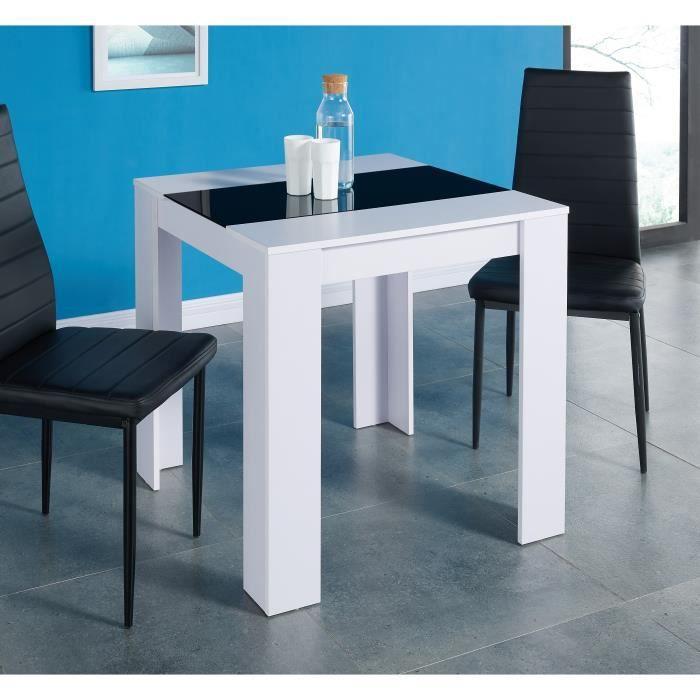 Damia table manger 2 4 personnes style contemporain en - Table a manger 2 personnes ...