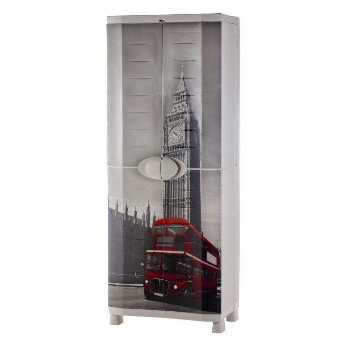 armoire r sine londres 70x45x184 cm achat vente etabli meuble atelier polypropyl ne. Black Bedroom Furniture Sets. Home Design Ideas