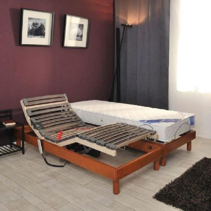 gfl belle literie ensemble matelas sommiers 2x80x200cm 21cm 100 latex tr s ferme 75kg m. Black Bedroom Furniture Sets. Home Design Ideas