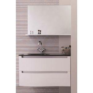 MEUBLE VASQUE - PLAN ITALO Salle de bain complète simple vasque 91 cm -