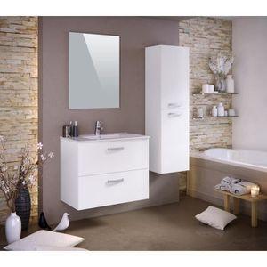 Meuble salle de bain une vasque 80 cm blanc achat for Ensemble meuble salle de bain 80 cm pas cher