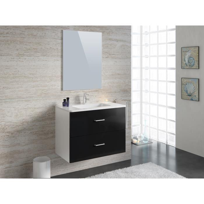 Meuble salle de bain avec vasque et miroir 80cm achat for Meuble salle de bain avec vasque et miroir pas cher
