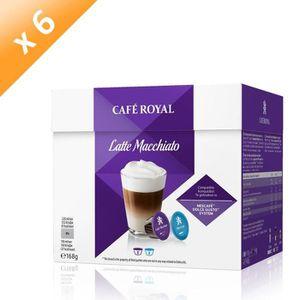 CAFÉ - CHICORÉE Lot de 6 Café Royal Dolce Latte Macchiato Capsules