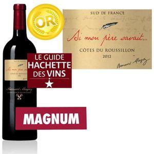 """VIN ROUGE """"Si Mon Père Savait"""" 2012 Côtes du Roussillon Magn"""