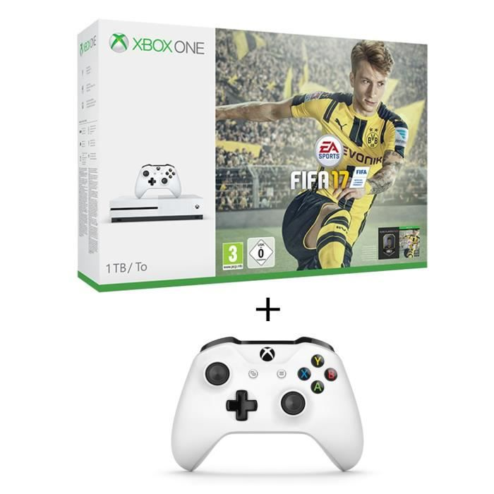 xbox one s 1to fifa 17 2 manettes univers xbox one gamingpascher. Black Bedroom Furniture Sets. Home Design Ideas