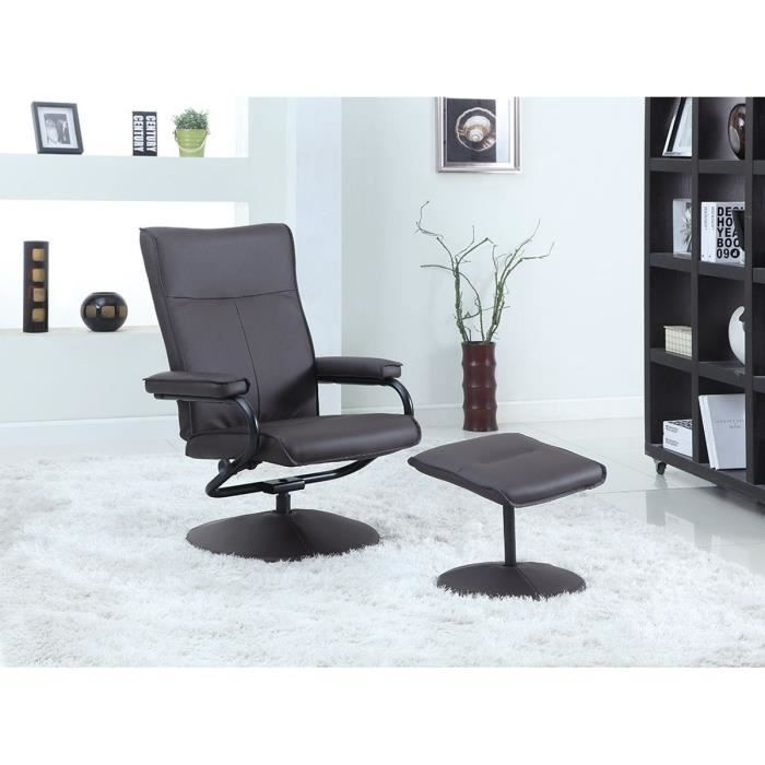 Slimest fauteuil relax repose pieds marron achat vente fauteuil marron - Fauteuil relax marron ...
