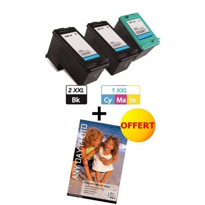 paxton 3 compatibles hp 350 351 xxxl prix pas cher les soldes sur cdiscount cdiscount. Black Bedroom Furniture Sets. Home Design Ideas