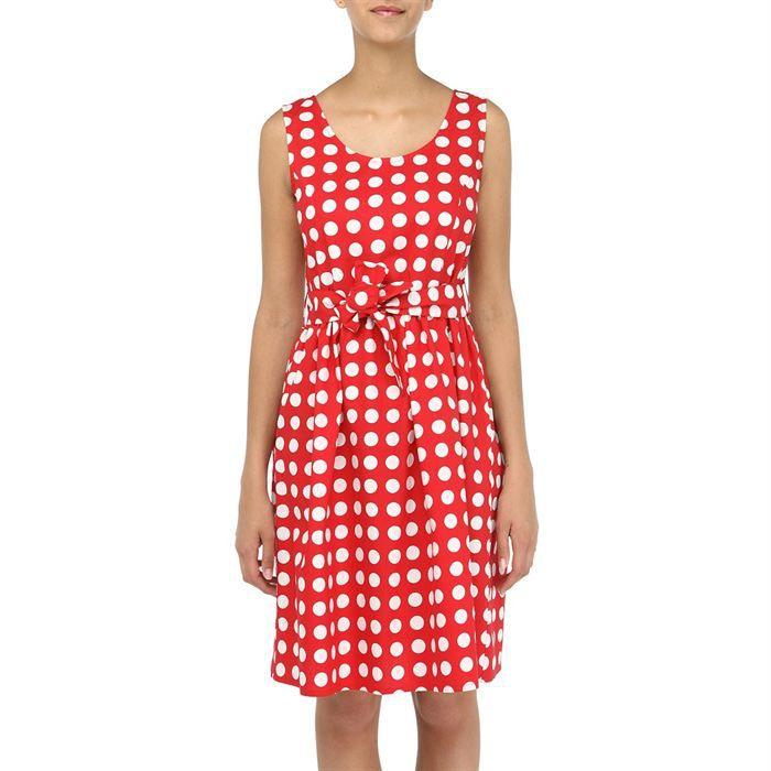 robe femme pois rouge et blanc achat vente robe. Black Bedroom Furniture Sets. Home Design Ideas