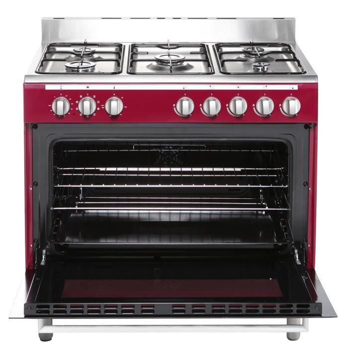 Continental edison cecp9060mbx cuisini re table gaz 5 for Four electrique ou gaz