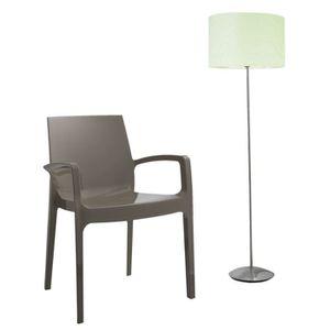 Chaise design en polycarbonate achat vente chaise for Chaise grise transparente