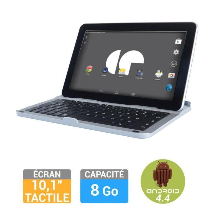 informatique tablettes tactiles ebooks continental edison tablette  go clavier silve f cetabkml