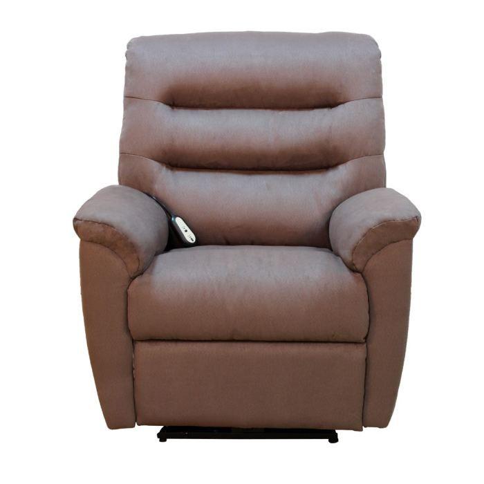 Fauteuil relax lectrique welly microfibre marron achat vente fauteuil re - Fauteuil relax discount ...