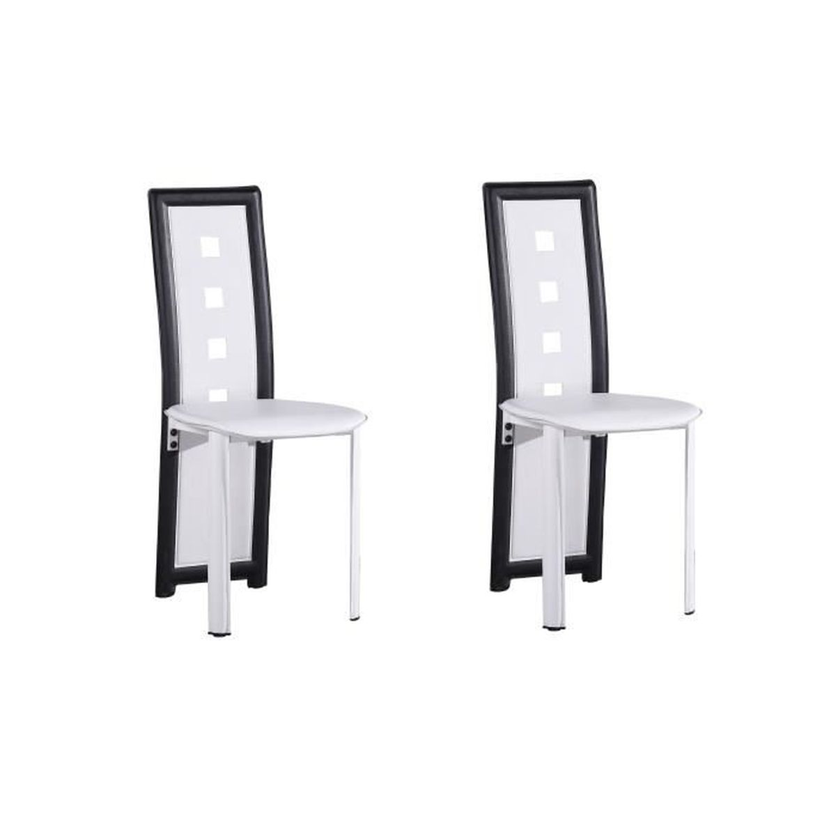 CHAISE KIM Lot de 2 chaises de salle à manger en simili -
