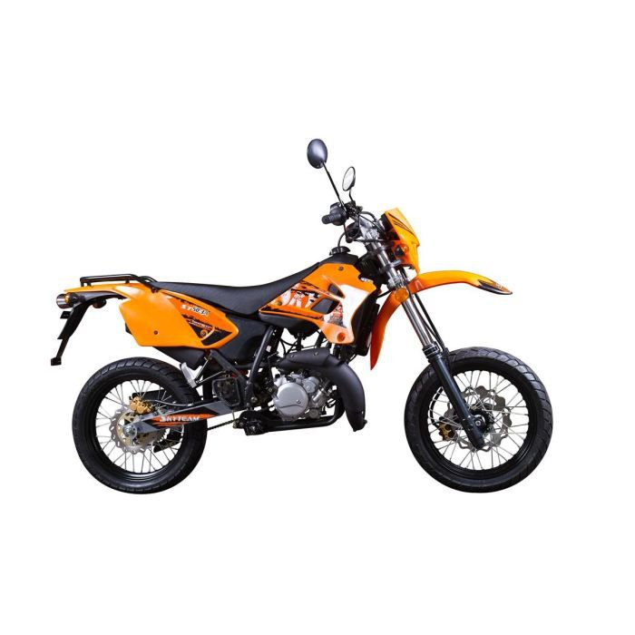 50cc 2 temps super motard coloris noir achat vente moto 50cc 2temps supermotard orange. Black Bedroom Furniture Sets. Home Design Ideas