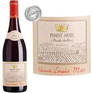 VIN ROUGE Climat Louis Max Pinot Noir Haute Vallée IGP Pays