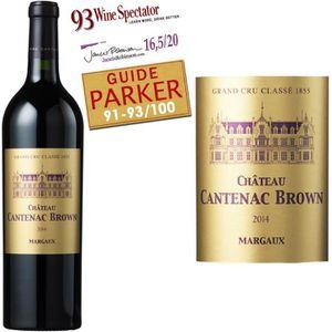 VIN ROUGE Château Cantenac Brown Margaux 2014 - Vin Rouge