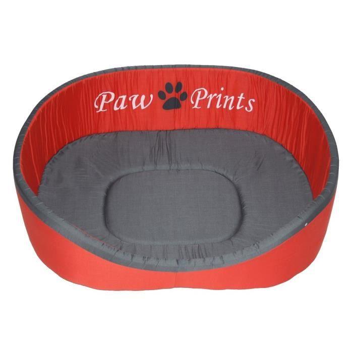 panier pour chien 65cm rouge et gris achat vente corbeille coussin panier pour chien. Black Bedroom Furniture Sets. Home Design Ideas