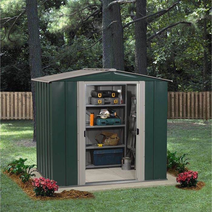 abri de jardin m tal 4 6 m achat vente abri jardin. Black Bedroom Furniture Sets. Home Design Ideas