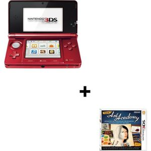 CONSOLE DS LITE - DSI CONSOLE 3DS ROUGE METAL + NEW ART ACADEMY