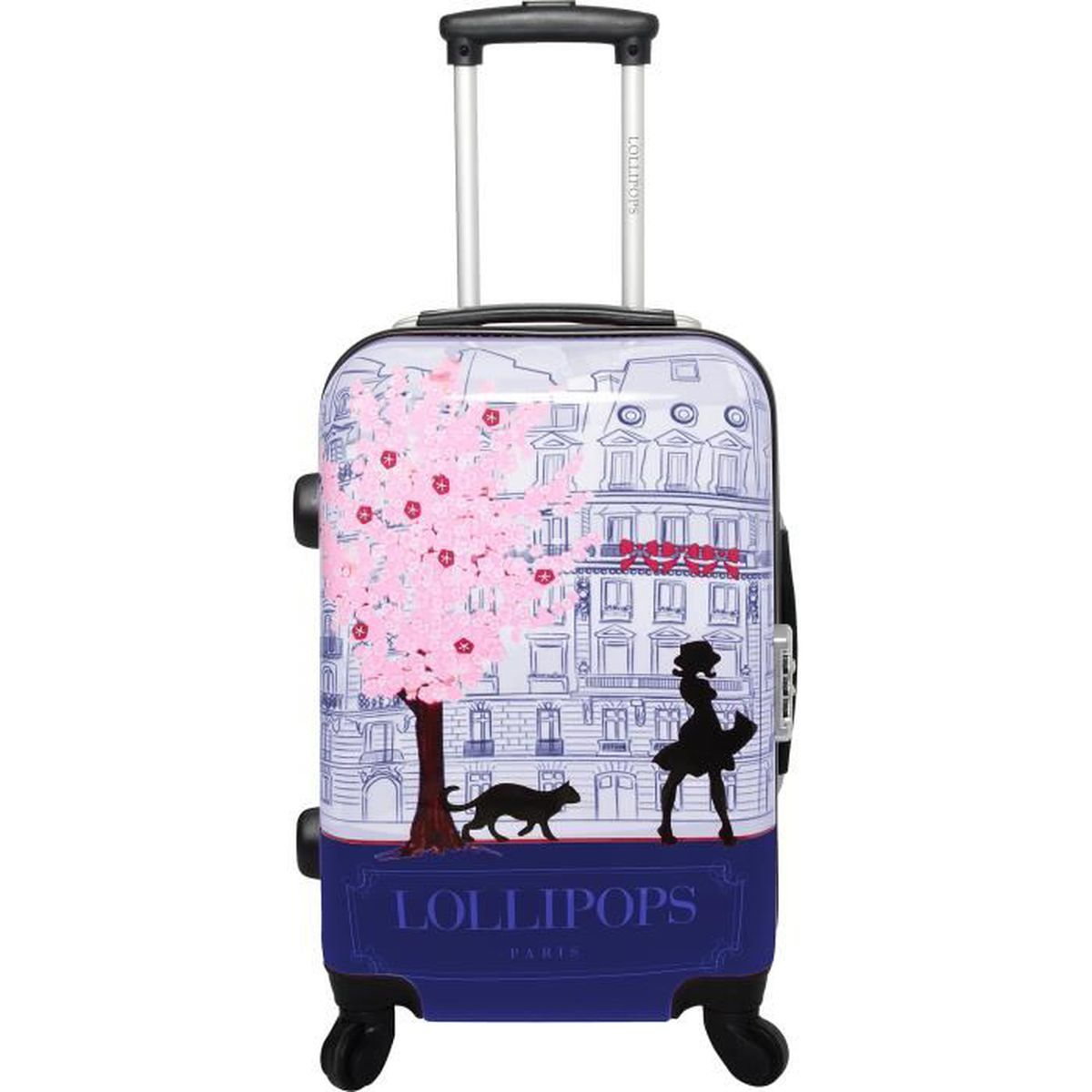 lollipops valise trolley rigide abs polycarbonate 4 roues 75cm navy navy achat vente. Black Bedroom Furniture Sets. Home Design Ideas