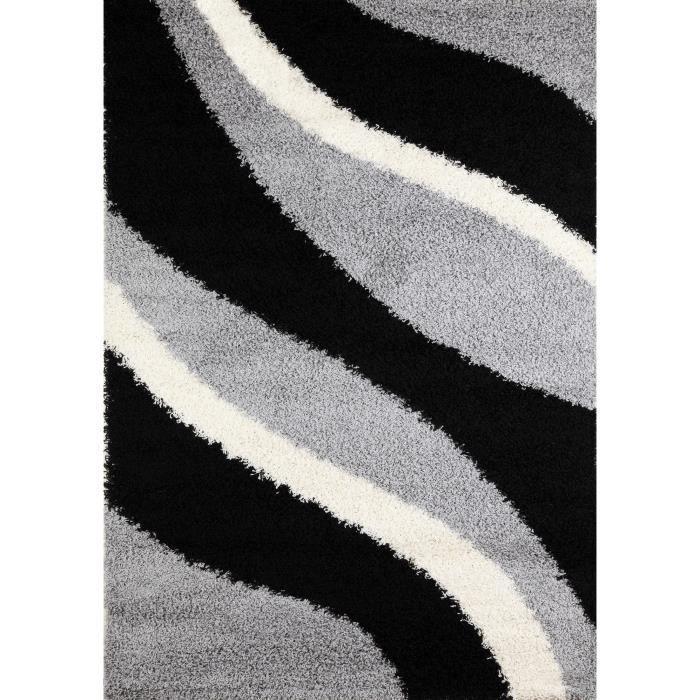 Torino tapis de salon shaggy 200x290 cm 40 mm achat - Tapis shaggy gris 200x290 ...