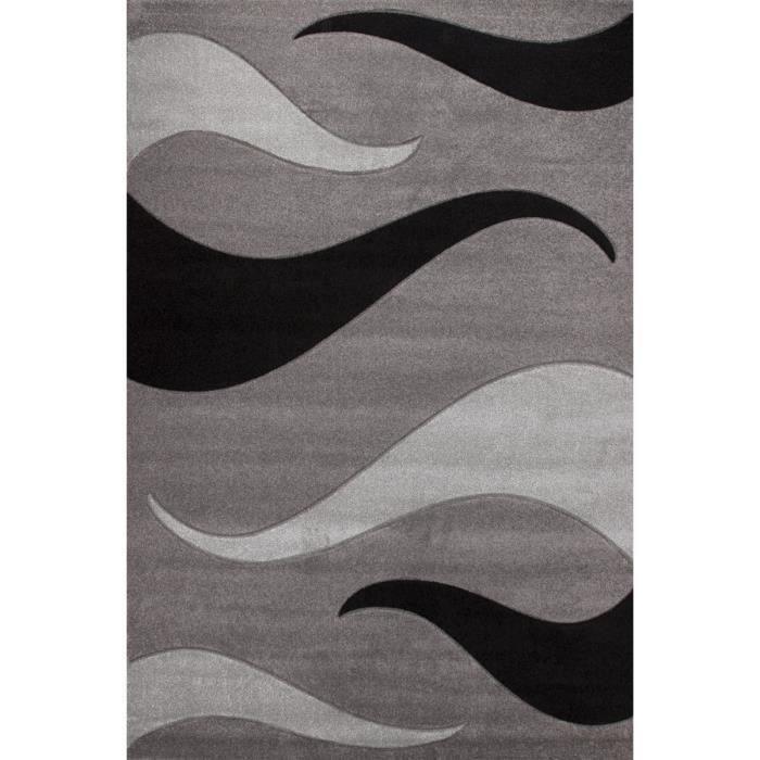 Havanna tapis de salon gris 200x290 cm achat vente for Tapis de salon gris