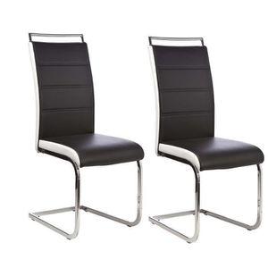 Chaises achat vente chaises pas cher cdiscount for Chaise salon noir