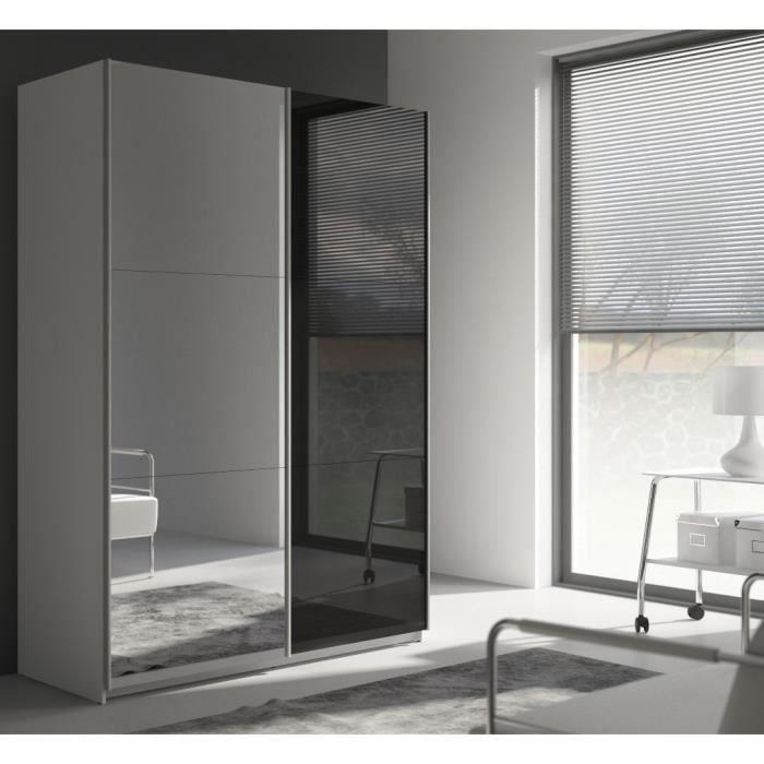 best armoire 150 cm noir brillant miroir achat vente armoire de chambre best armoire 153. Black Bedroom Furniture Sets. Home Design Ideas